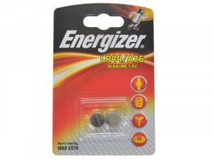 Energizer LR44 Coin Alkaline Batteries Pack of 2
