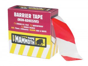 Everbuild Barrier Tape Red / White 72mm x 500m