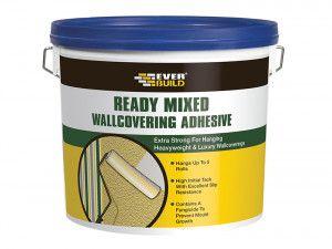 Everbuild Ready Mixed Wallcovering Adhesive 4.5kg