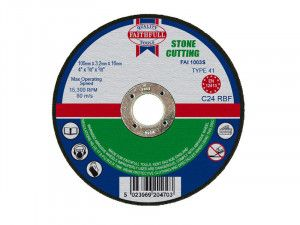 Faithfull, Stone Cut Off Disc