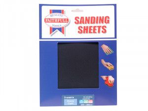 Faithfull Alox Cloth Sheets 280 x 230mm Assorted Fine, Medium & Coarse (3)