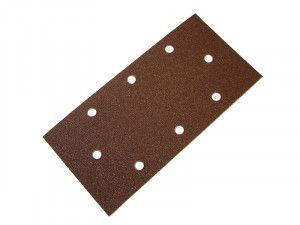Faithfull 1/3 Sanding Sheet Red B/D Hook & Loop Holed Assorted (Pack of 5)