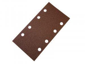 Faithfull 1/3 Sanding Sheet Red Bosch Clip Holed Assorted (Pack of 5)
