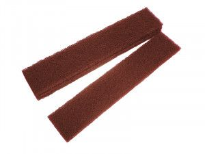 Faithfull Abrasive Plumb Strips Maroon Assorted 50 x 250mm (6)