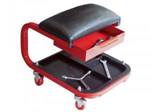 Faithfull Seat On Wheels C/W Tray & Drawer