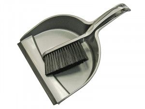 Faithfull Dustpan & Brush Set Plastic (220mm)