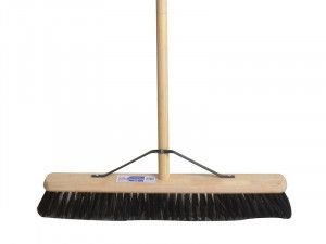 Faithfull Broom PVC 600mm (24in) with 54in Handle