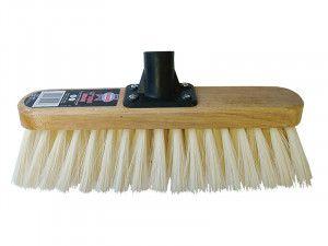 Faithfull Broom Head Soft Cream PVC Bristle 300mm (12in) Threaded Socket