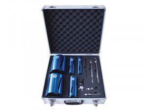 Faithfull Diamond Core Drill Kit & Case Set of 11