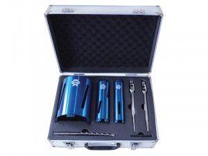 Faithfull Diamond Core Drill Kit & Case Set of 7