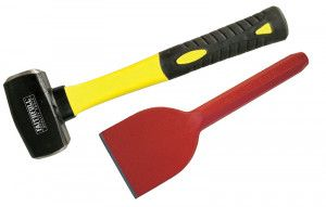 Faithfull Club Hammer Fibreglass Handle 1.13kg (2.1/2lb) + Brick Bolster 75mm (3in)