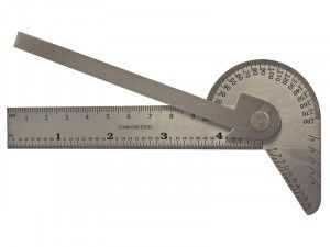 Faithfull Multi Purpose Angle Protractor 100mm (4in)