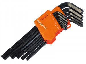 Faithfull, Long Arm Hex Key Sets, 13 Piece