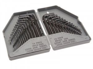 Faithfull Hex Key Set of 30 Metric / Imperial (0.7-10mm 0.028-3/8in)