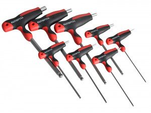 Faithfull T Handle Ball Ended Hex Key Set of 8