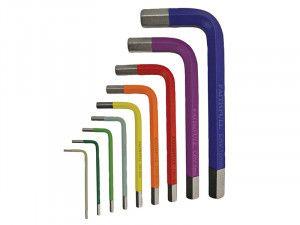 Faithfull Hex Key Coloured Arm Set of 9