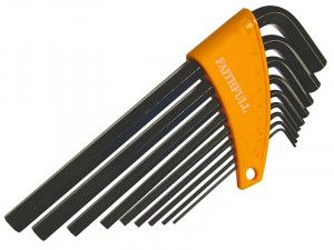 Faithfull, Long Arm Hex Key Set, 9 Piece