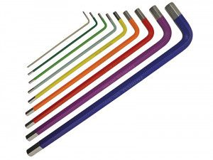 Faithfull Long Arm Hex Key Set of 9 Metric
