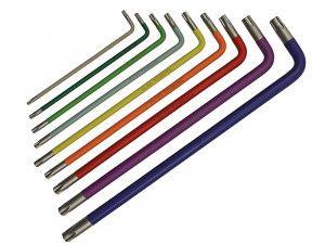 Faithfull Long Coloured Arm Star Set of 9 (T10-T50)