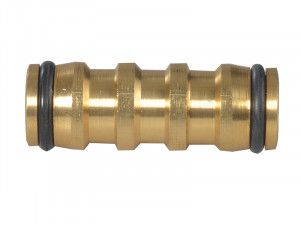 Faithfull Brass Two Way Hose Coupling 12.5mm (1/2in)
