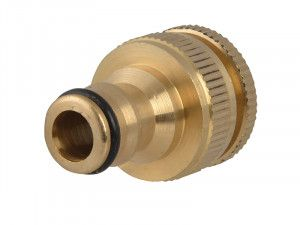 Faithfull Brass Dual Tap Connector 12.5 - 19mm (1/2 - 3/4in)