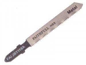 Faithfull 8009-HSS Metal Cutting Jigsaw Blades Pack of 5 T118A