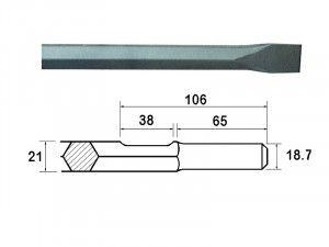 Faithfull Kango Shank Chisel 380mm (914118)