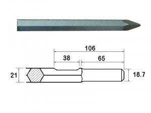 Faithfull Kango Shank Point 380mm (914112)