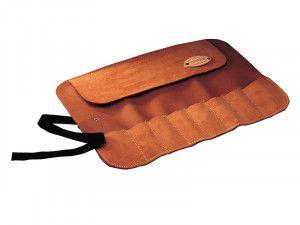 Faithfull 8 Pocket Leather Chisel Roll 33 x 47cm