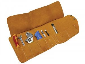 Faithfull 10 Pocket Leather Tool Roll 48 x 27cm