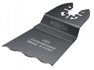 Faithfull Multi-Functional Tool CRV Serrated Wavy Edge Saw Blade 68mm