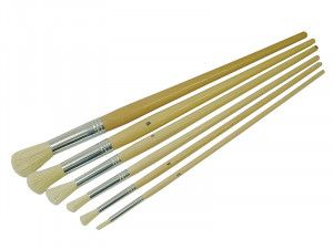 Faithfull Round Fitch Brush Set of 6