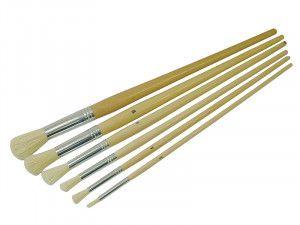 Faithfull Round Fitch Brush Set of 6