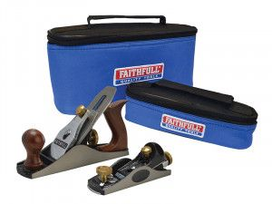 Faithfull No.4 Plane & No.60.1/2 Plane In Canvas Carry Bags