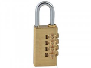 Faithfull, Brass Combination Padlock