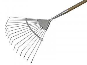 Faithfull Prestige Stainless Steel Lawn Rake Ash Handle