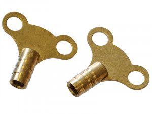 Faithfull Radiator Keys - Brass (Pack of 2)