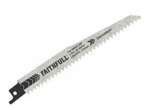 Faithfull Sabre Saw Blades BIM Demolition S611DF (Pack of 5)