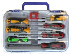 Faithfull Soft Grip Screwdriver Set of 8 SL/PH/PZ