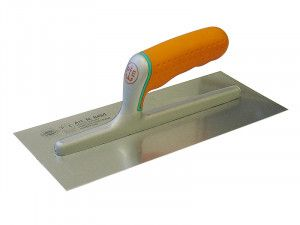 Faithfull Plasterers Finishing Trowel Stainless Soft Grip Handle 11 x 4.3/4in