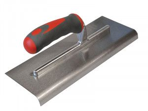 Faithfull Edging Trowel Soft Grip Handle 11 x 4.3/4in