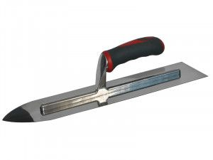 Faithfull Flooring Trowel Stainless Steel Soft Grip Handle 16 x 4in