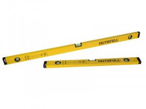 Faithfull 120cm & 60cm Box Level Twin Pack