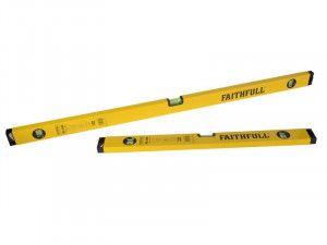 Faithfull 120cm & 60cm Box Level Twin Pack