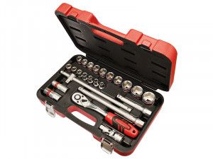 Faithfull Socket Set of 24 Metric 1/2in Square Drive