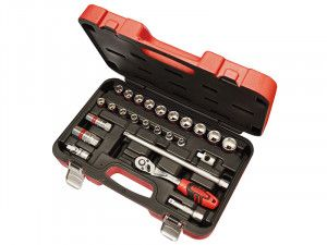 Faithfull Socket Set of 25 Metric 3/8in Square Drive