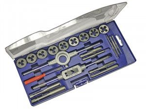 Faithfull Metric Tap & Die Set of 21 Carbon Steel