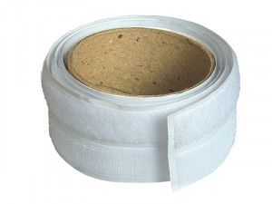 Faithfull Hook & Loop Self-Adhesive Tape 20mm x 1m White
