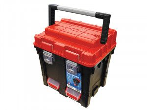 Faithfull Plastic Cube Toolbox - 2 Trays 44cm (17in) Deep