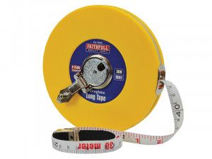 Faithfull Closed ABS Fibreglass Long Tape 30m/100ft (Width 13mm)